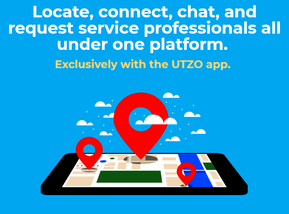 UTZO is the best, fastest and easiest way to locate a plumber in real-time!